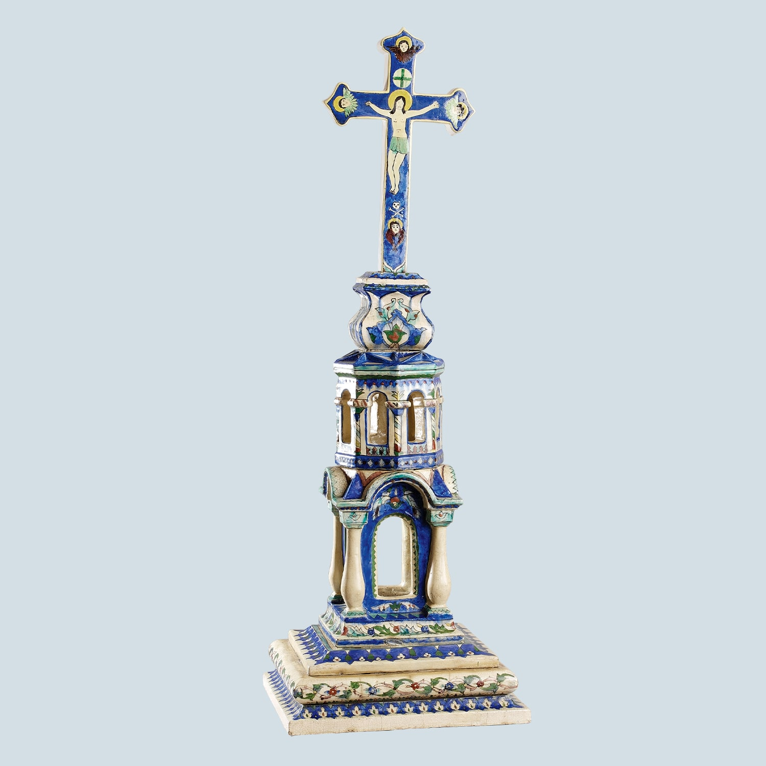 Crucifix and pedestal