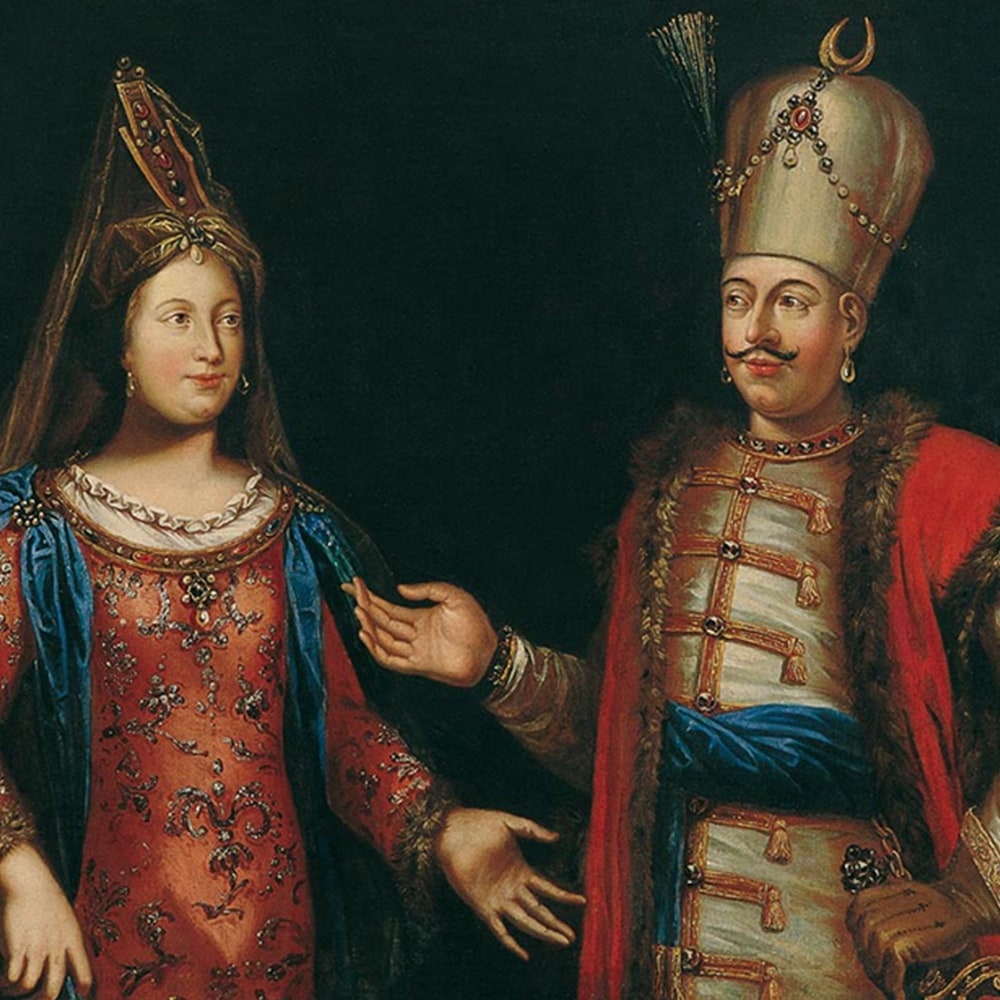The Ottoman Sultan and his Haseki (favourite wife)