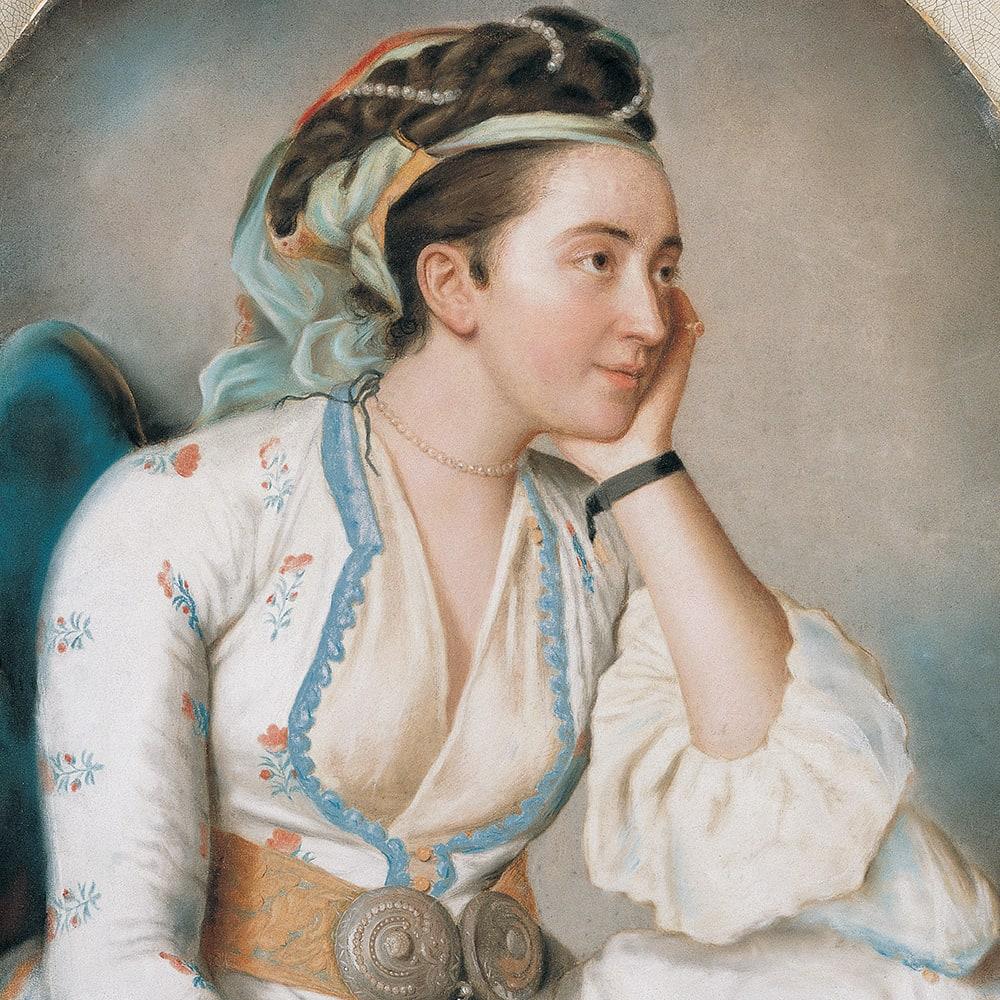 A Woman in Turkish Dress