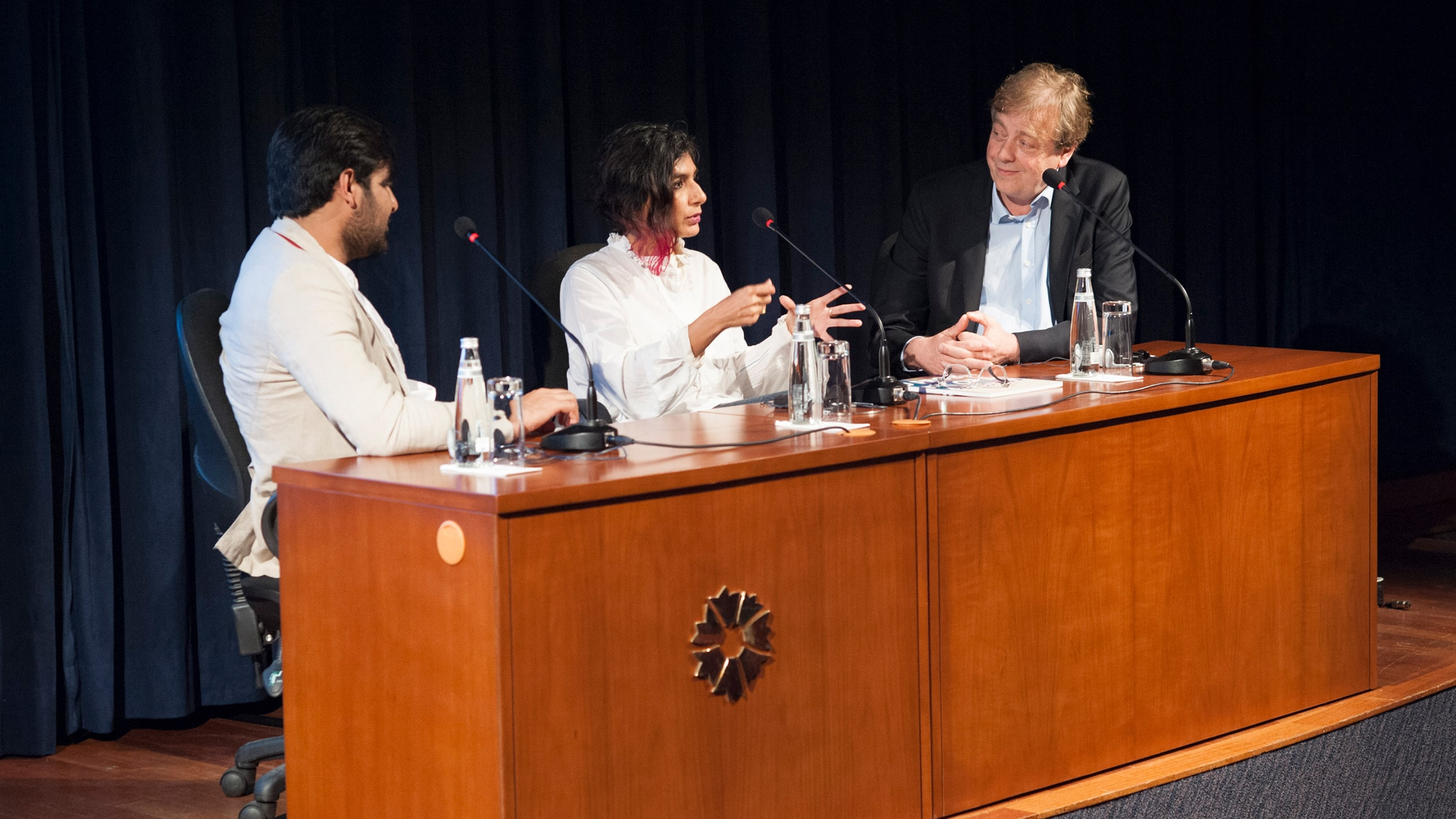 Waqas Khan, Monica Narula (RAQS Media Collective), Alistair Hicks