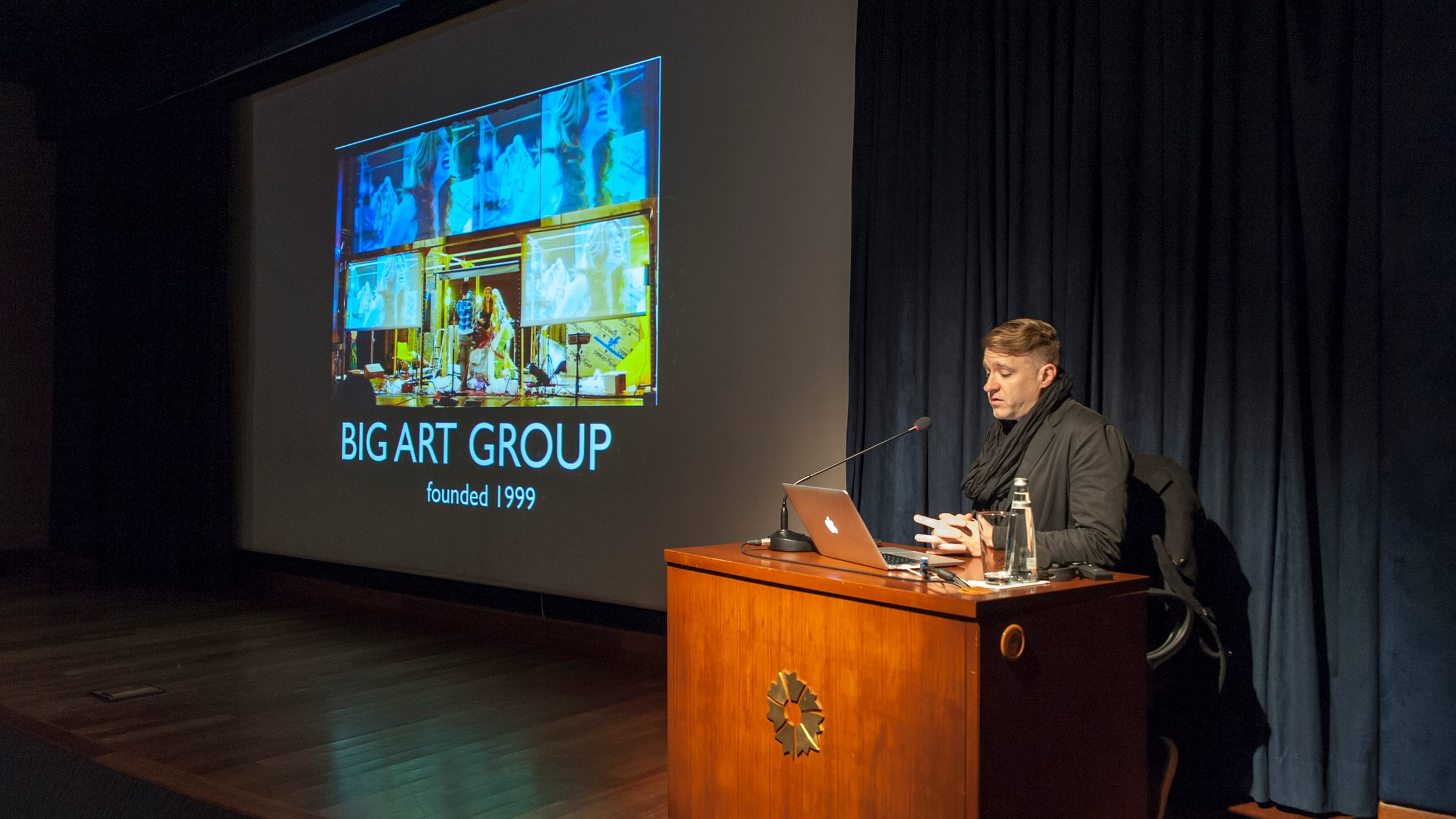 "Caden Manson <br/>""Mediated Bodies: A History of Big Art Group"""