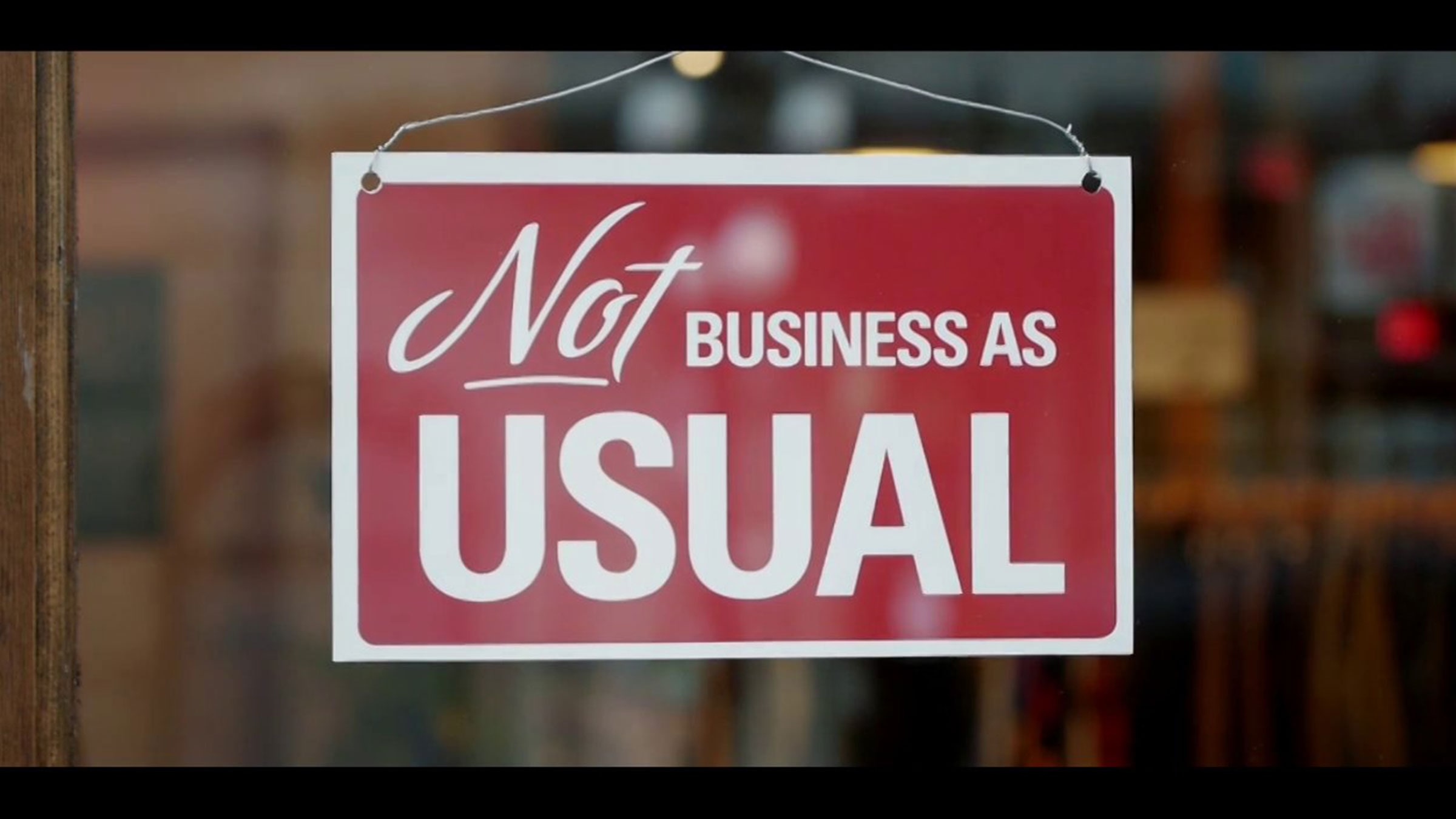 Not Business as Usual  slide 0