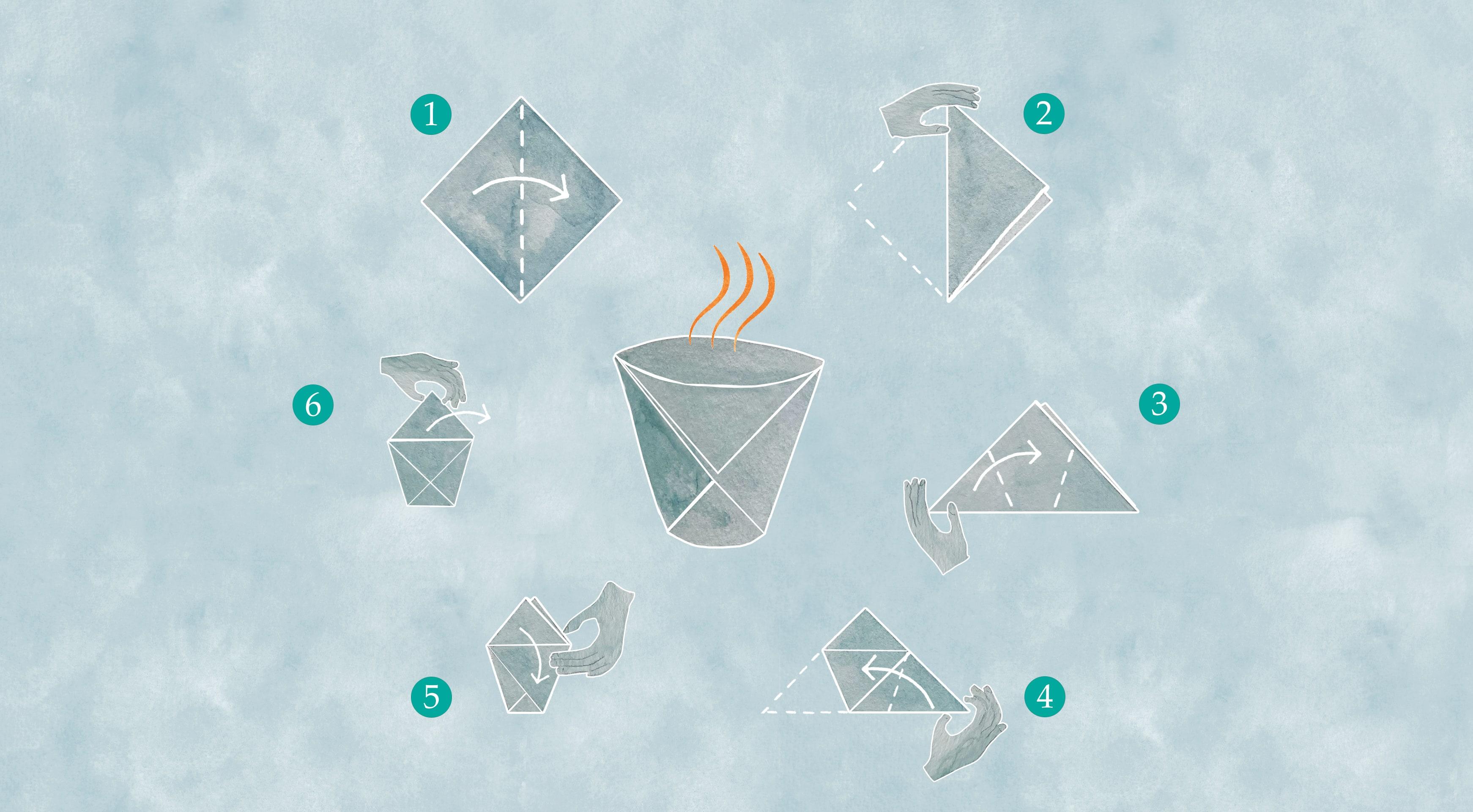 Origami Cup Design