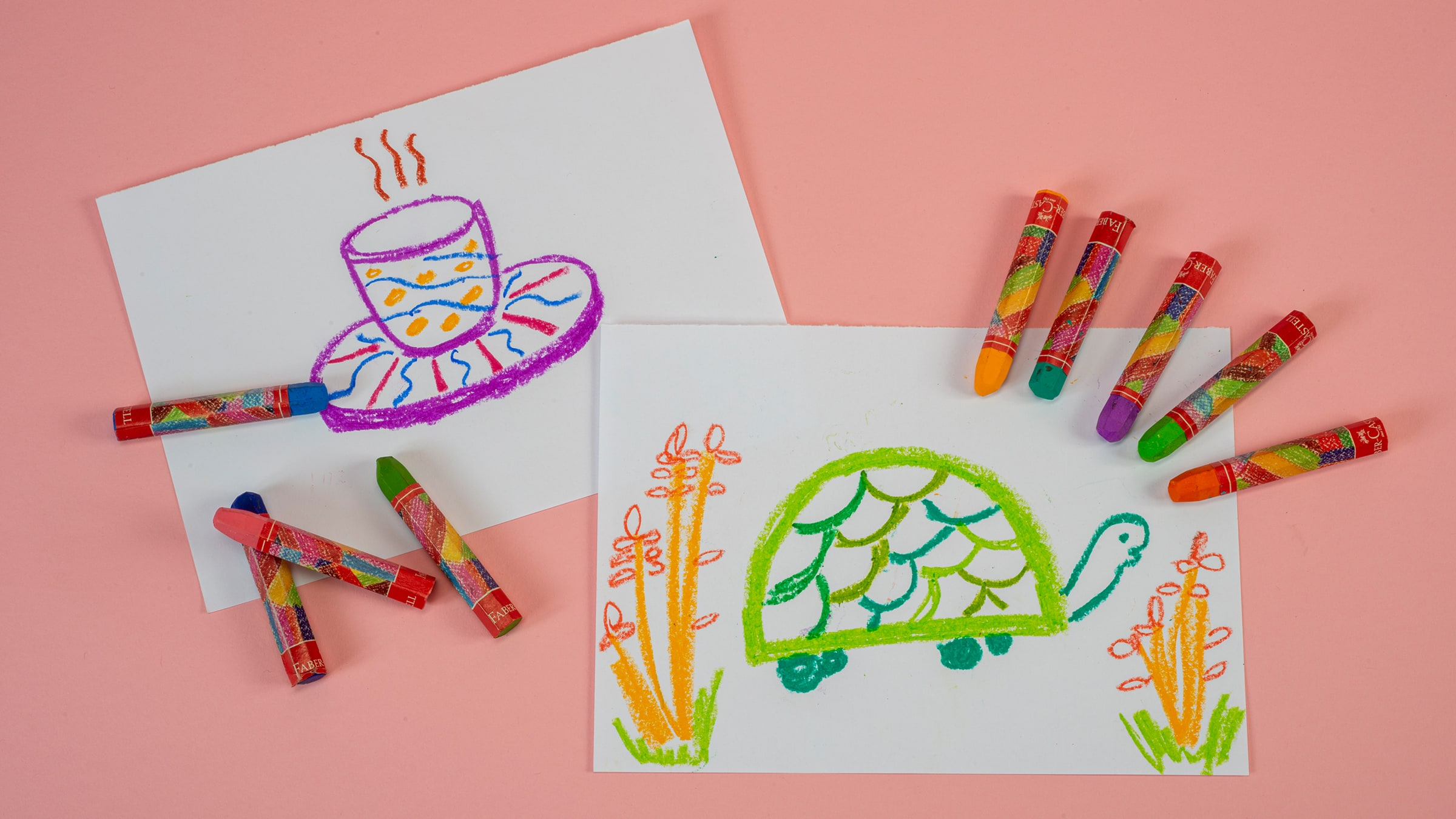 Tortoise Drawing and Coffee Cup Design (Preschool)