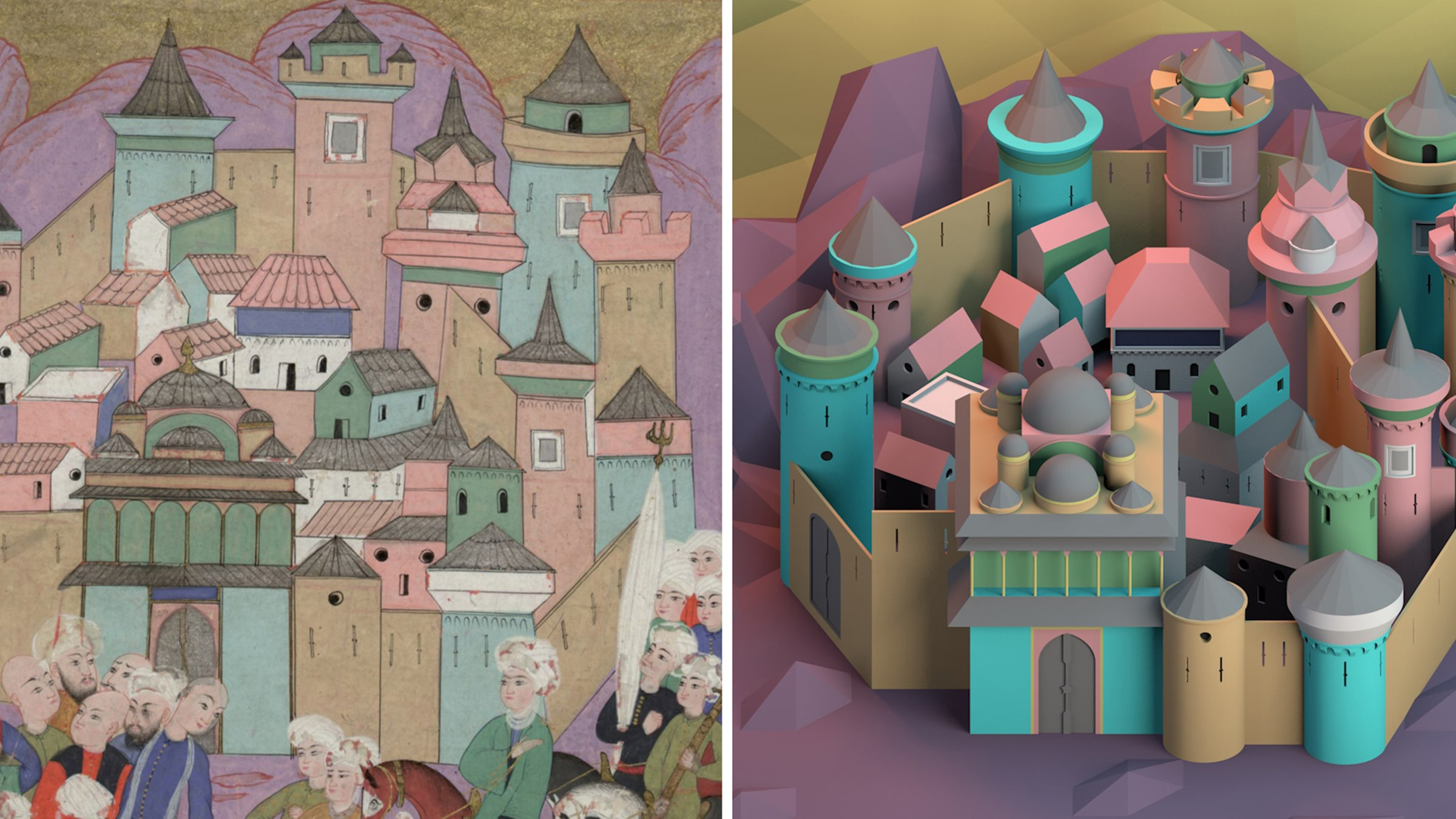 Online Talk <br> Fragmented Architectural Space in Ottoman Miniature Art <br> Intercultural Interactions and Relationships Beyond Time
