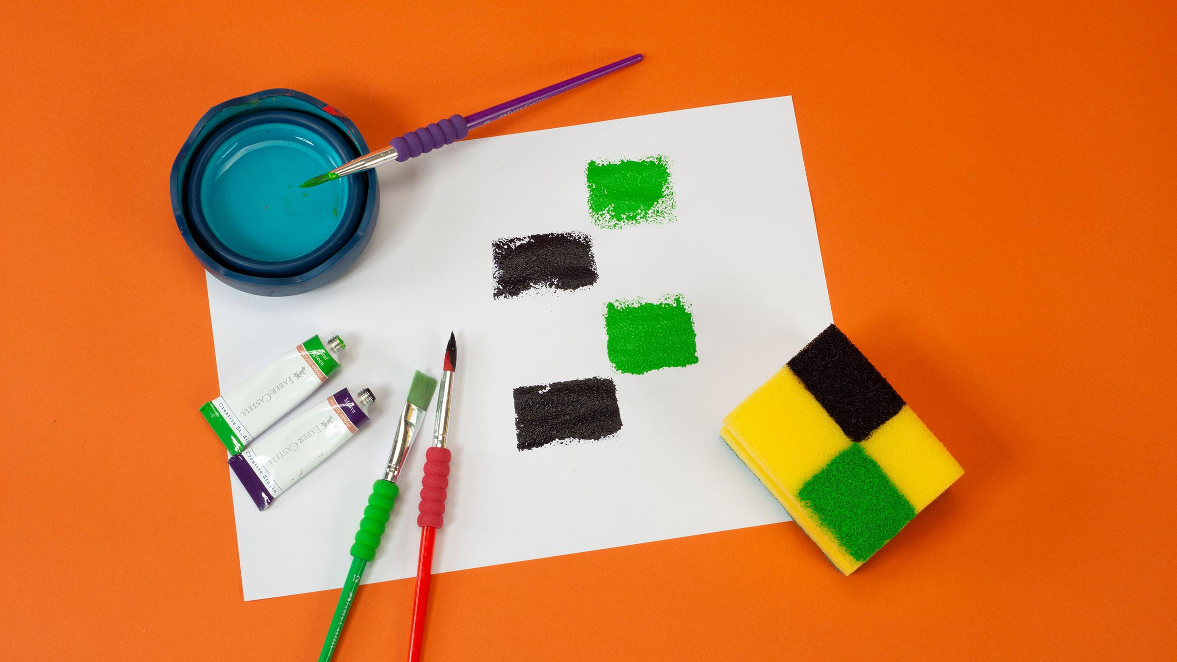 Sponge Printing Workshop