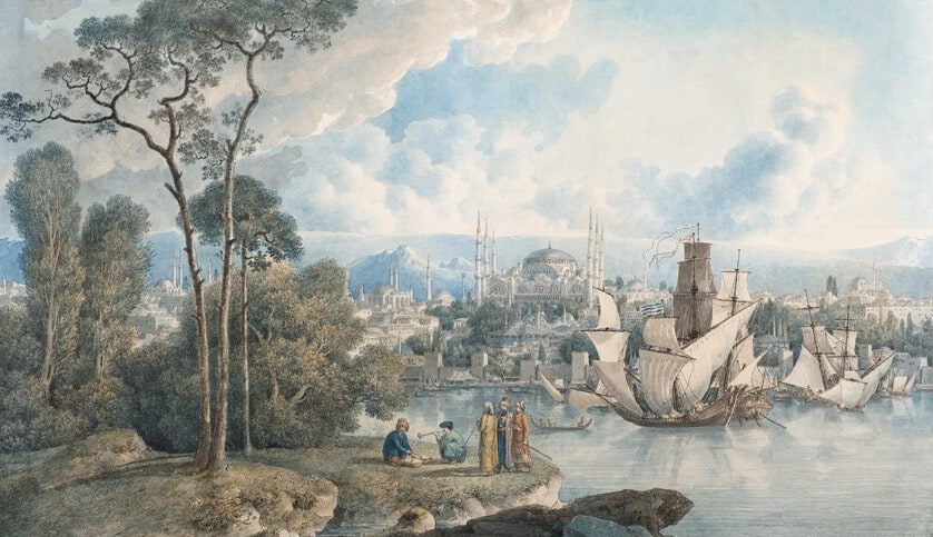 Istanbul's Historical Peninsula in 18th and 19th Century Paintings